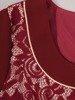 Wizytowy komplet damski, kreacja w kontrastowych kolorach 24188