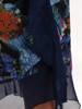 Wyjściowa garsonka z granatowym żakietem i zwiewną sukienką z szyfony 26965