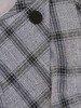 Wyszczuplająca sukienka z dzianiny, kreacja w ponadczasową kratę 26807