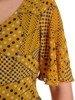 Wyszczuplająca sukienka z falbaną w pasie 25335