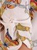 Zwiewna bluzka z tkaniny 26631