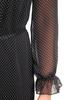Zwiewna sukienka w groszki, kreacja z ozdobną falbaną 30735