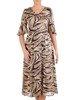 Zwiewna sukienka z falbankami przy rękawach 25451